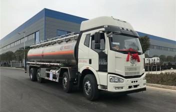 解放J6 30方铝合金油罐车(前四后八)