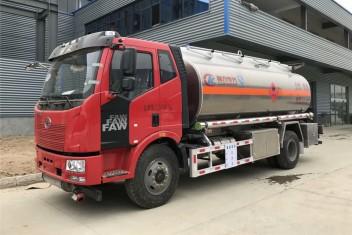 解放J6 16方铝合金油罐车(单桥)